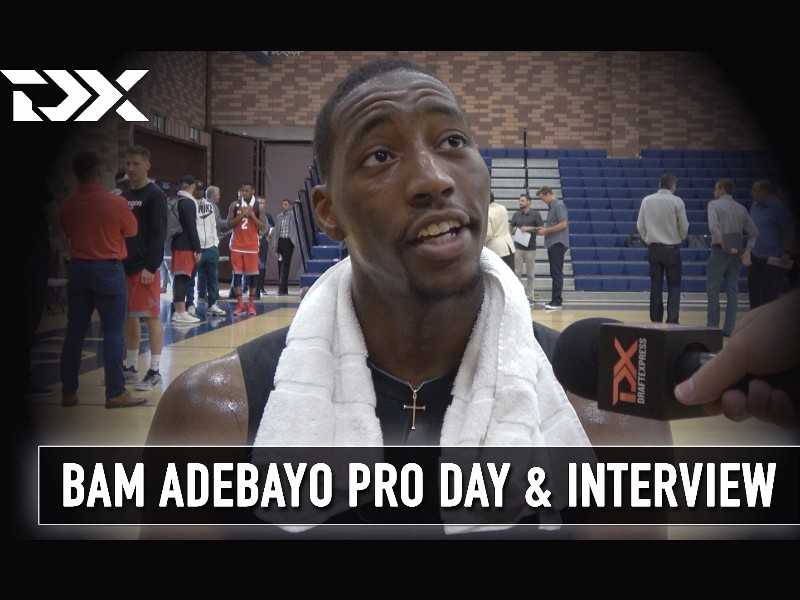 Bam Adebayo NBA Pro Day Workout Video and Interview